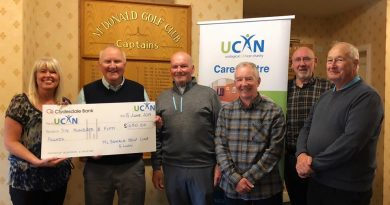 Thank you: Colin Grant and McDonald Golf Club