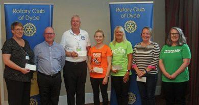 Thank you: Dyce Rotary Club